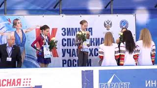 Girls Victory Ceremony - IX Winter Spartakiad of pupils (youthful) of Russia - 2019.03.23