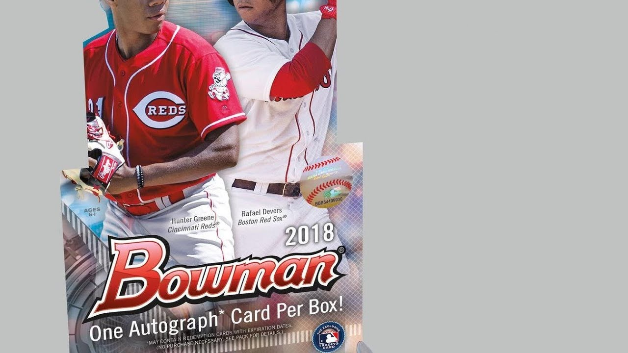 Baseball Card Pack Opening 6 Bowman 2018 Hobby Box Super Rare Auto
