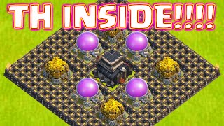 Clash Of Clans NEW TOWN HALL 9 FARMING BASE TOWNHALL INSIDE | POST TOWN HALL 11 UPDATE