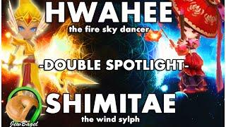 summoners war hwahee shimitae spotlights fire sky dancer wind sylph