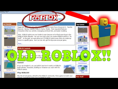 Omg Old Roblox Games Roblox In 2006 Youtube