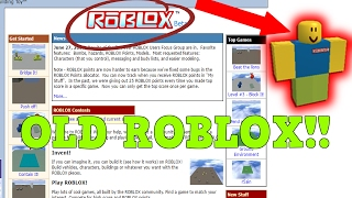 *OMG* OLD ROBLOX GAMES!!! ROBLOX IN 2006!