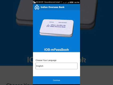 How to use IOB M passbook