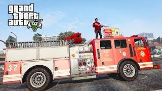 قراند 5 : مهمة سيارة اطفاء الحريق !!؟