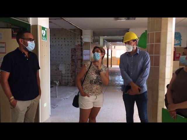 Visita a las obras del colegio El Castillo 2020 #Aspe