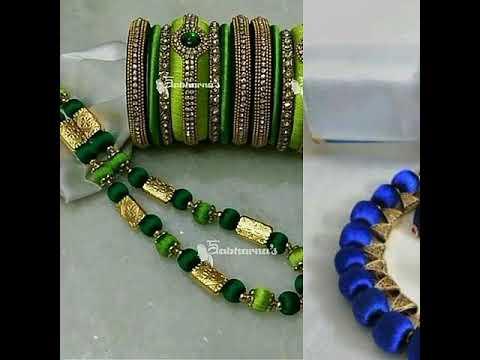 Latest Silk thread jewellery designs