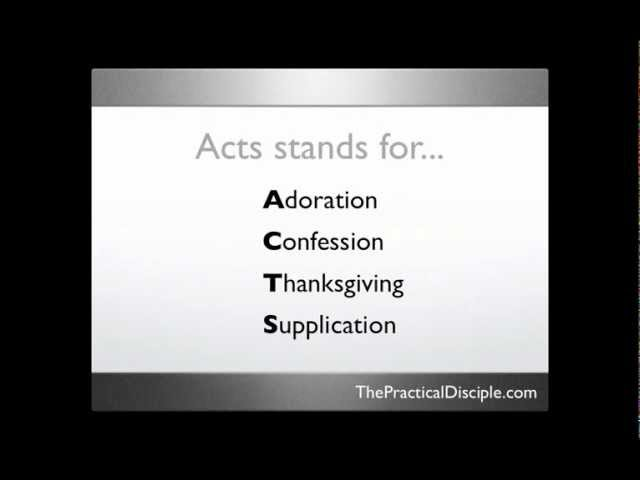 How to Pray the Acts Prayer