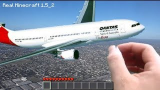 Real Life Minecraft - AIRPLANE! (Realistic Minecraft)