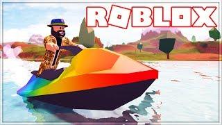 🔥 BEST RAINBOW WATER SCOOTER IN ROBLOX-JAILBREAK