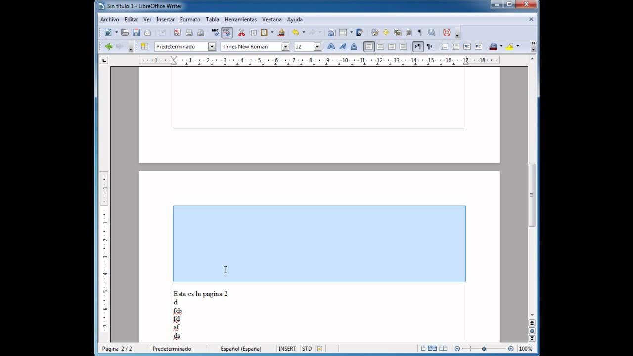 Página 5 De 6: LibreOffice Writer: Salto De Pagina