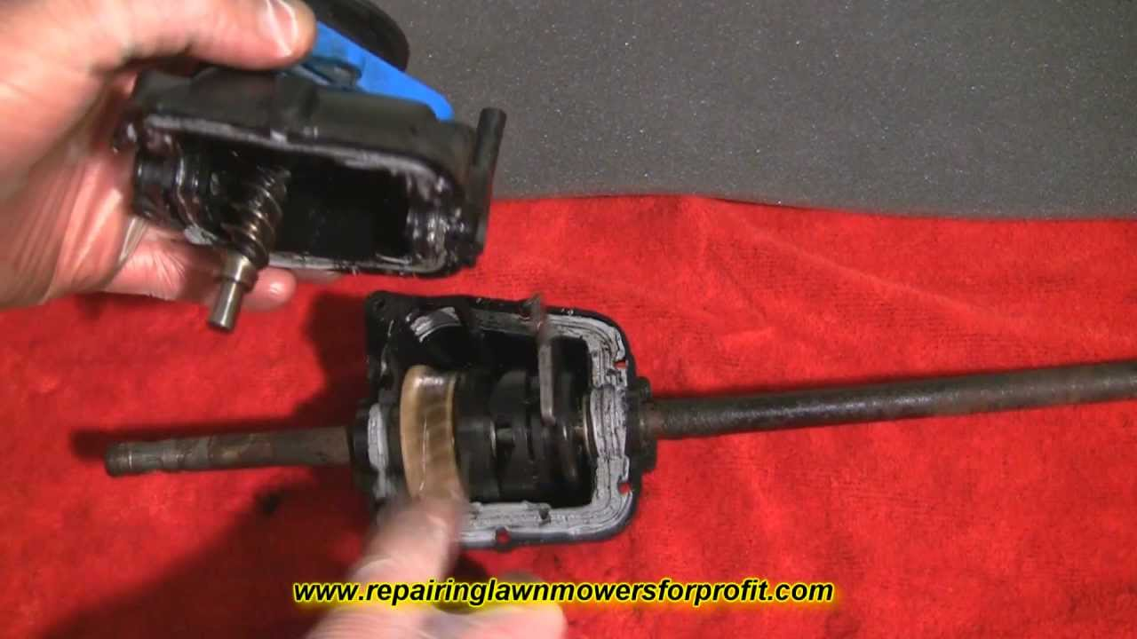 repairing lawn mowers for profit part 14 lawnmower self propelled gear repair and help youtube [ 1280 x 720 Pixel ]