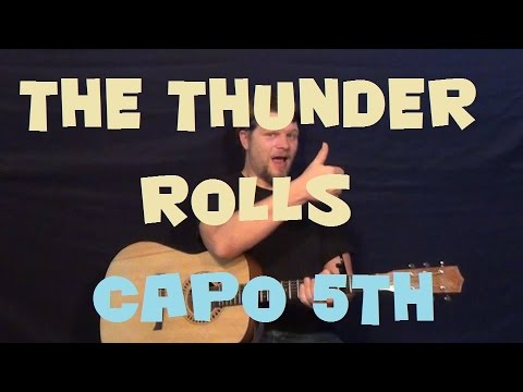 The Thunder Rolls (Garth Brooks) Easy Strum Fingerstyle Guitar Lesson How to Play Tutorial