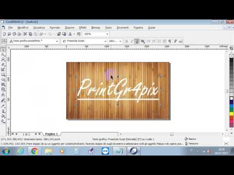 Creare una grafica professionale per youtube | Corel Draw 12