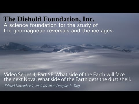 Series 4, Part 5E, Which side of the Earth will face the sun when it novas & the dust shell.