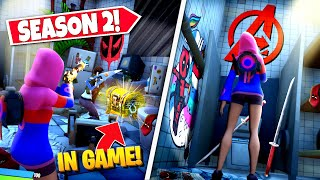 *NEW* FINDING SEASON 2 DEADPOOL *EASTER EGGS* IN-GAME IN FORTNITE! (Battle Royale)