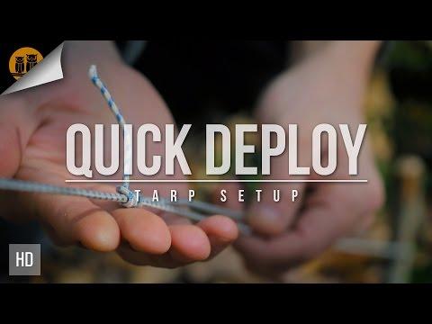 Quick Deploy Tarp Setup | Bushcraft Skills