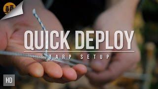Quick Deploy Tarp Setup   Bushcraft Skills