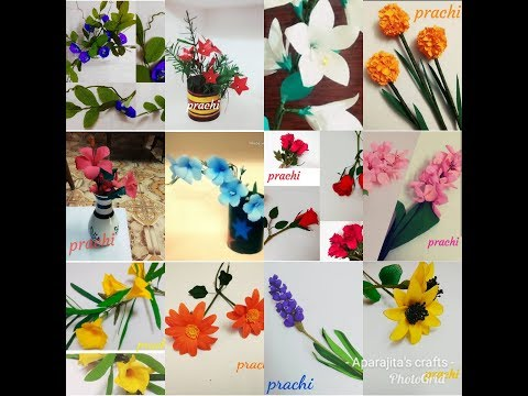 My all paper flower craft in one video with their links in the description box below..