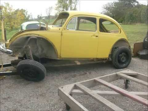 Separate VW Super Beetle Body From Chassis, lastchanceautorestore.com