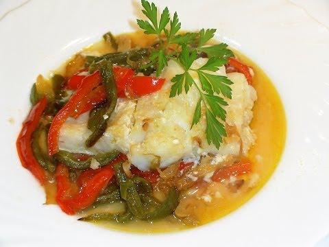 Receta Bacalao Con Verduras En Papillote - Recetas De Cocina, Paso A Paso, Tutorial