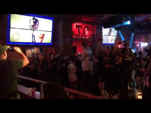 Steelers fans celebrate in Pittsburgh after the playoff win over the Chiefs