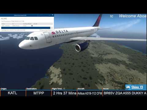 Down to warm Weather!!! DAL685 KATL-MTPP [Vatsim] [FSX]