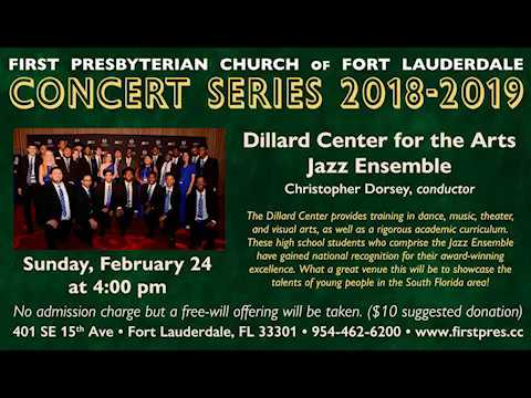Concert Series: Dillard Center for the Arts Jazz Ensemble