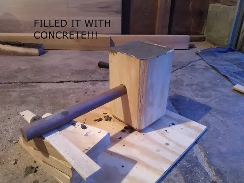 Making Thor's Hammer Part 2 - Pouring The Concrete!