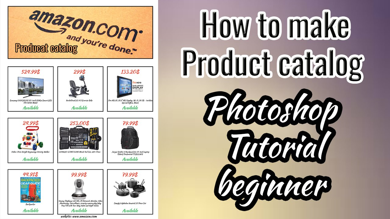 How to make Product catalog , Photoshop Tutorial beginner - YouTube
