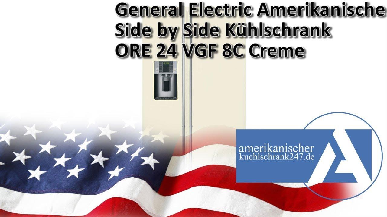 Side By Side Kühlschrank Creme : General electric side by side kühlschrank ore vgf c creme