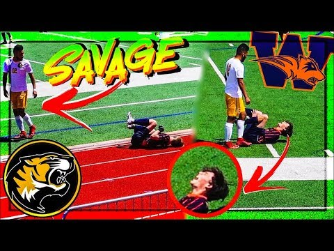 The Most SAVAGE High School Soccer Player - Mount Pleasant vs Wakeland [2018]