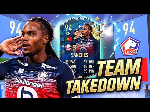 THIS CARD IS A JOKE!!! 94 RATED TOTS RENATO SANCHES TEAM TAKEDOWN Vs CapGunTom!!!