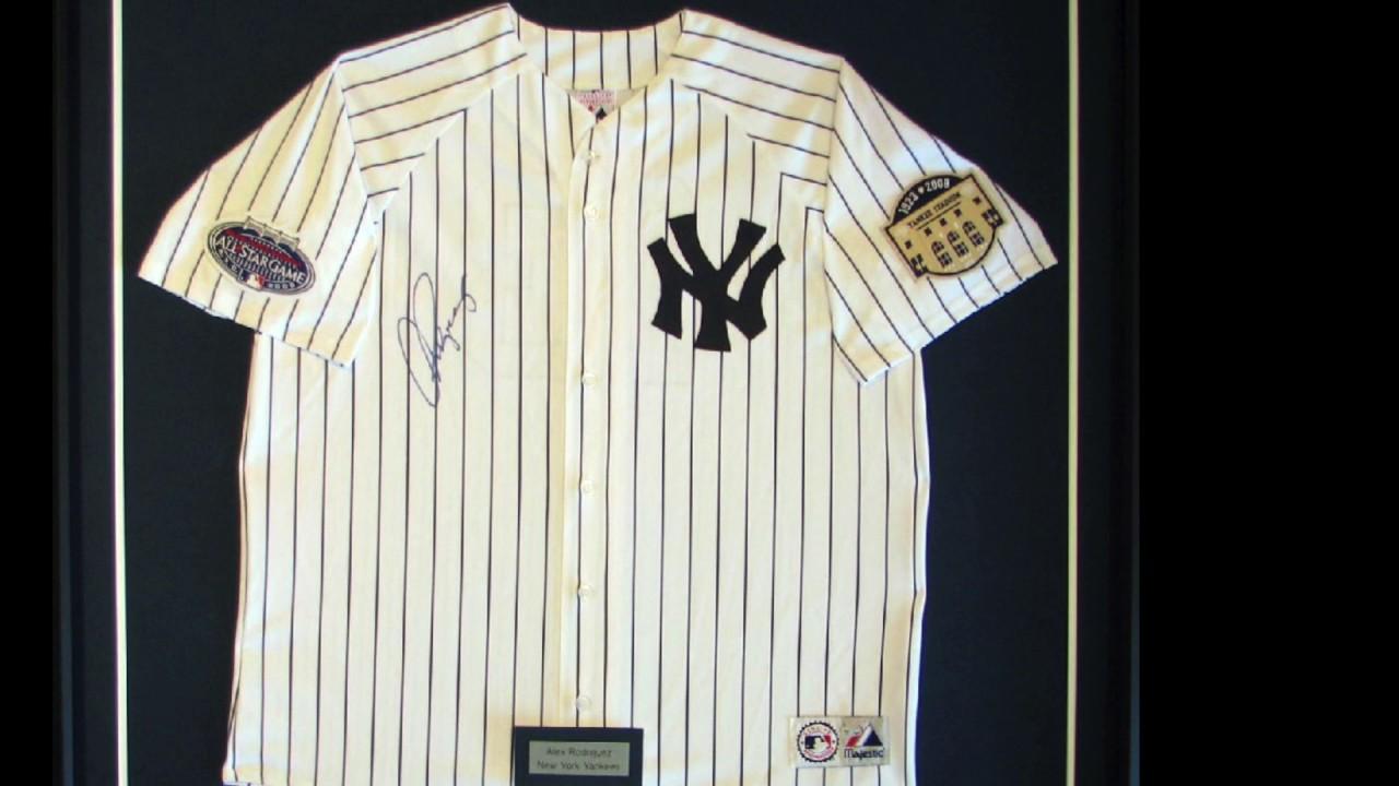 Baseball jersey framing at The Great Frame Up - YouTube