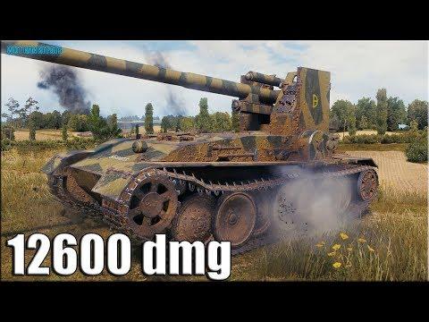 12к урона ПСИХ на Grille 15 ✅ World of Tanks лучший бой ПТ-10 Германии
