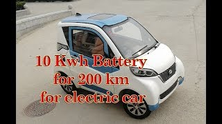 Electric Car with 10 kWh Battery   Range 200 km