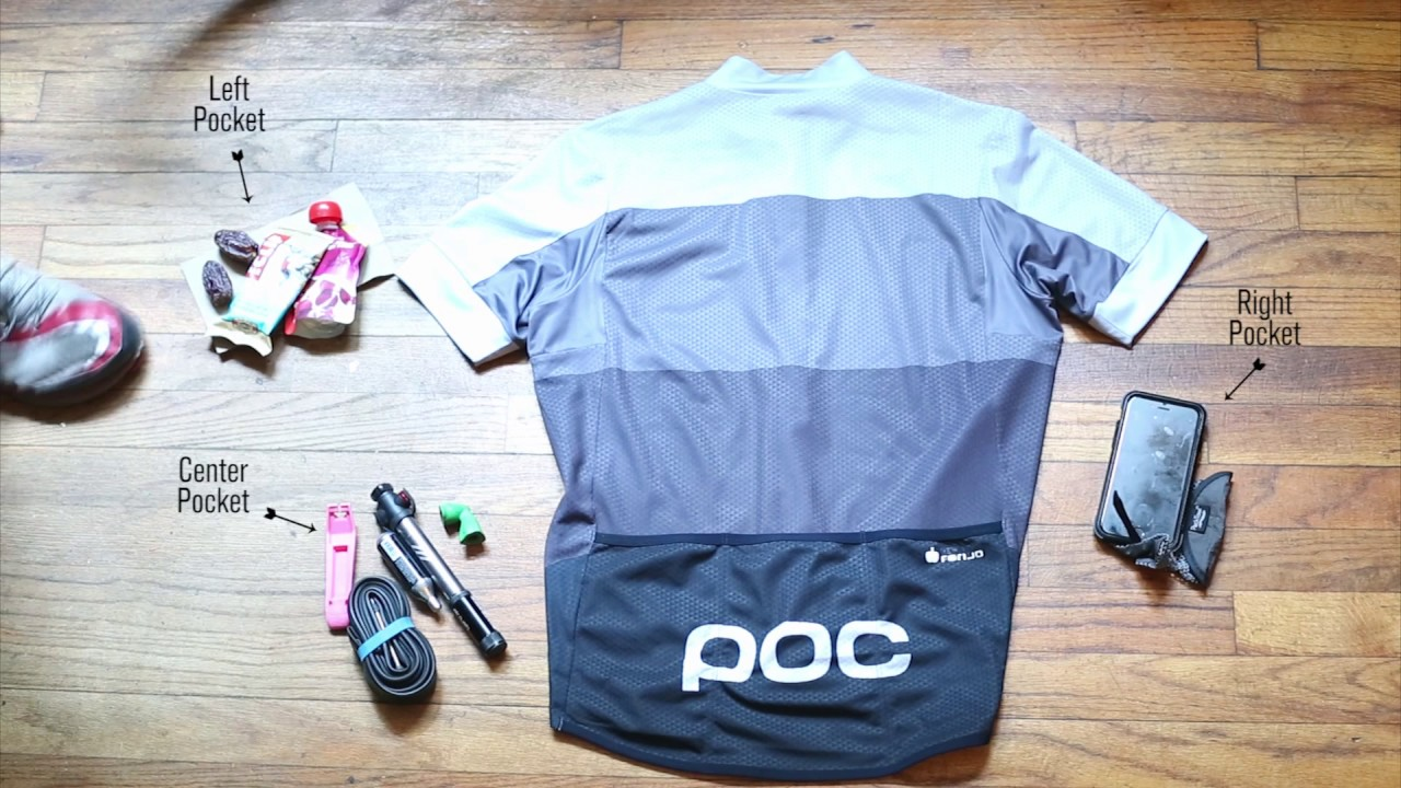 How To Pack Cycling Jersey Pockets - YouTube 77e8b8182
