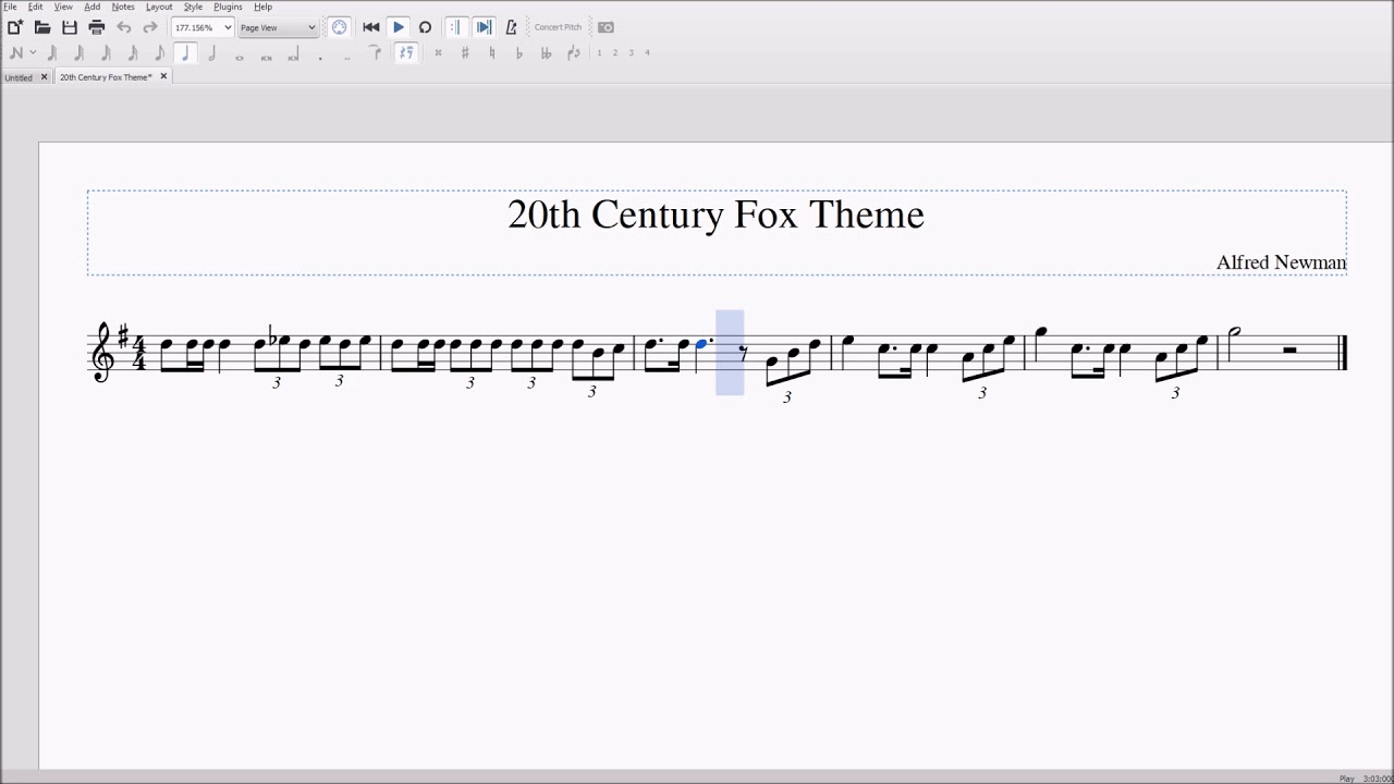 20th Century Fox Opening Alto/Bari Sax Sheet Music