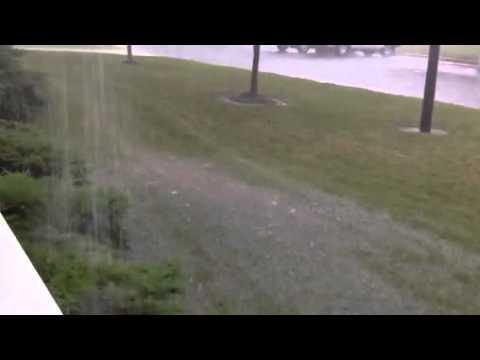 Hail Storm Rain Wind In Indiana