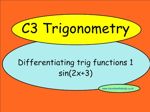 C3 Differentiating trig functions 1 - Differentiation - A2 - alevelmathshelp