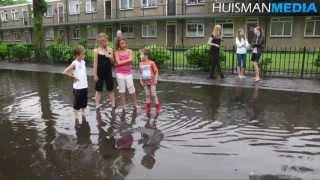 Wateroverlast na wolkbreuk Winschoten - 20 juni 2013