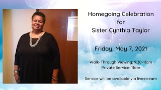 Homegoing Celebration for Cynthia Taylor