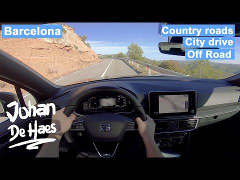 SEAT TARRACO 2.0 TDI 150 hp POV TEST DRIVE in Barcelona