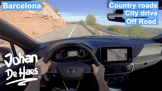 SEAT TARRACO 2.0 TDI 150 hp POV TEST DRIVE in Barcelona