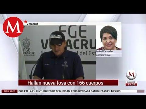 Hallan restos de al menos 166 personas en fosas de Veracruz