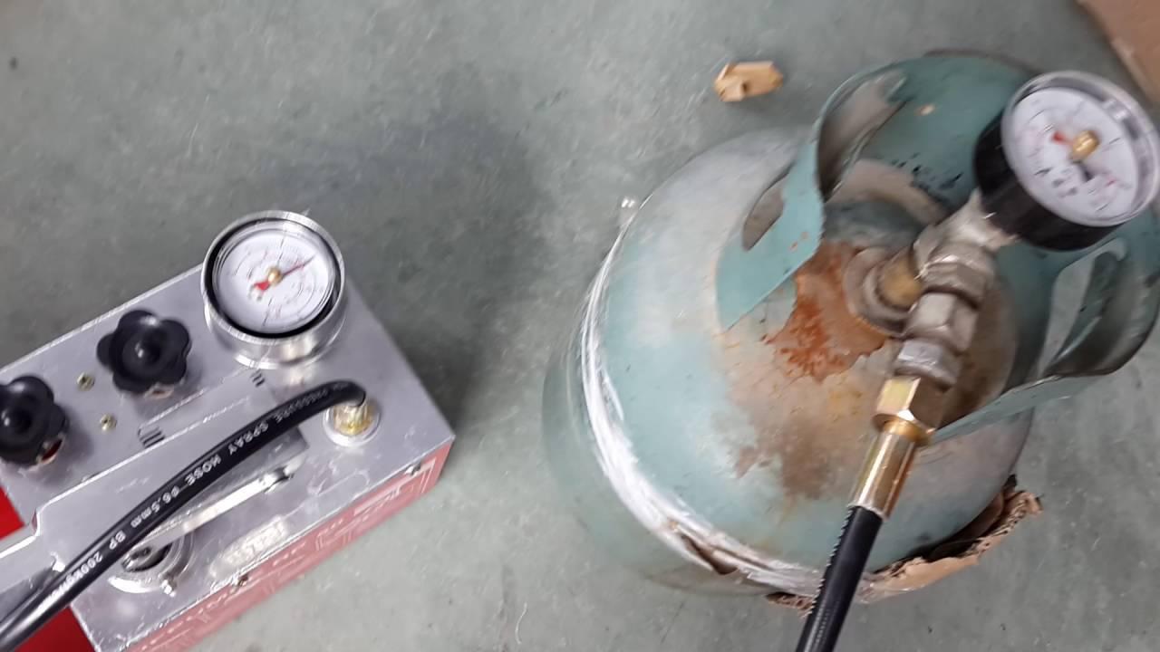 RP50 pressure test pump test video - YouTube