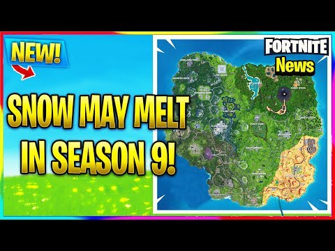 FORTNITE SNOW BIOME COULD MELT IN SEASON 9! | Fortnite Battle Royale Info