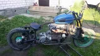 Мотоцикл с двигателем от Ваз 2109  Часть 5