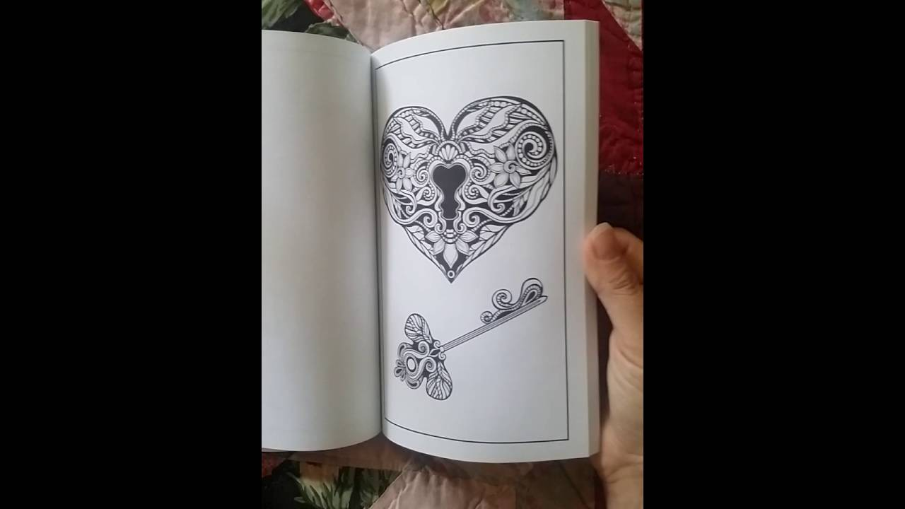 Just Add Ink Adult Tattoo Coloring Book Flip Through