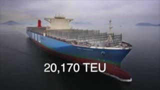Biggest container ship - MOL Triumph