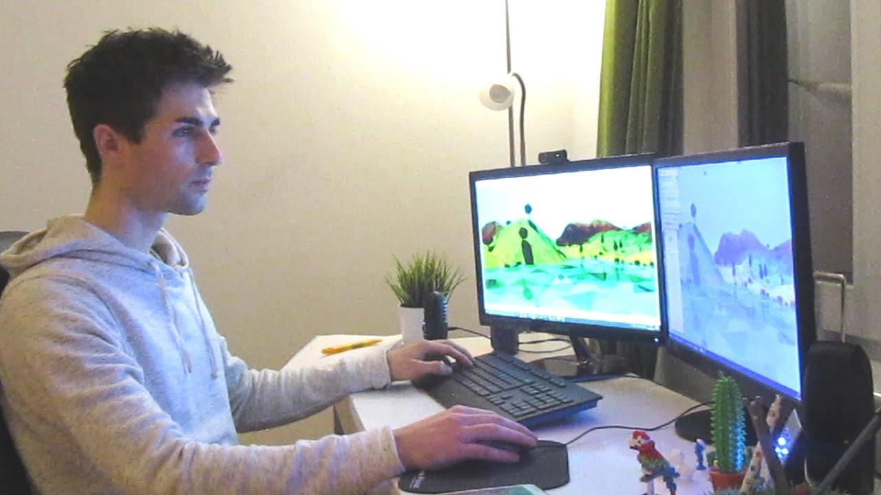 3d Office Wallpaper Indie Game Devlog 42 Behind The Scenes Youtube